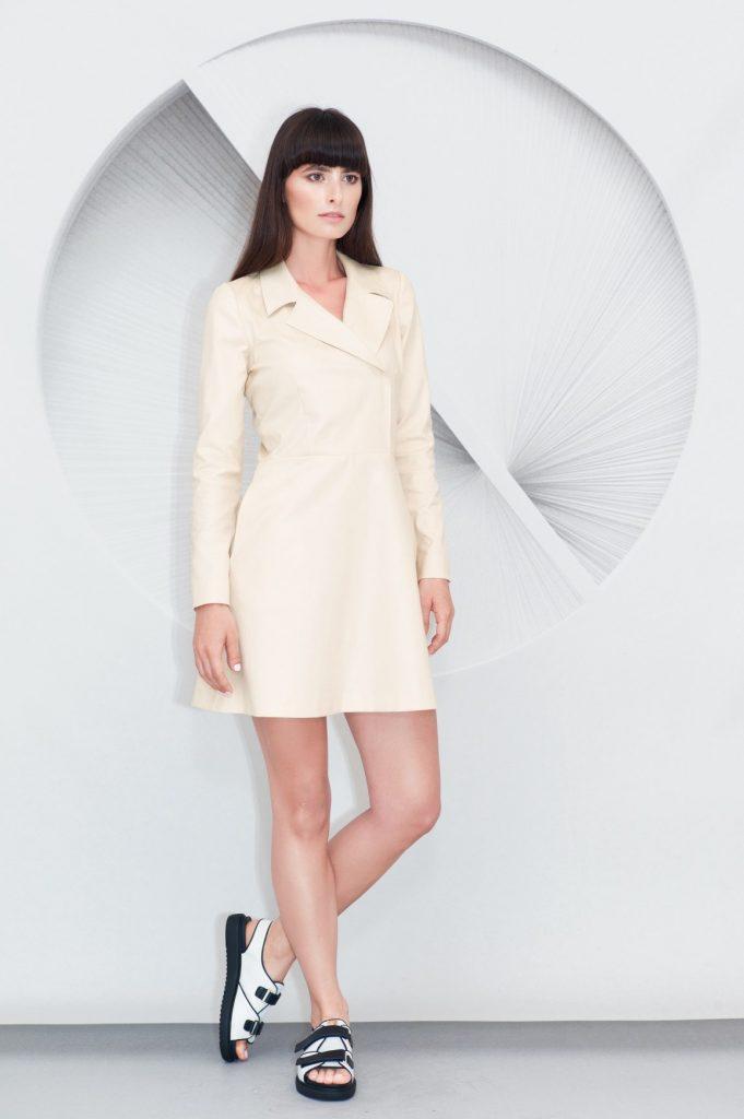 Lapels Mini Dress
