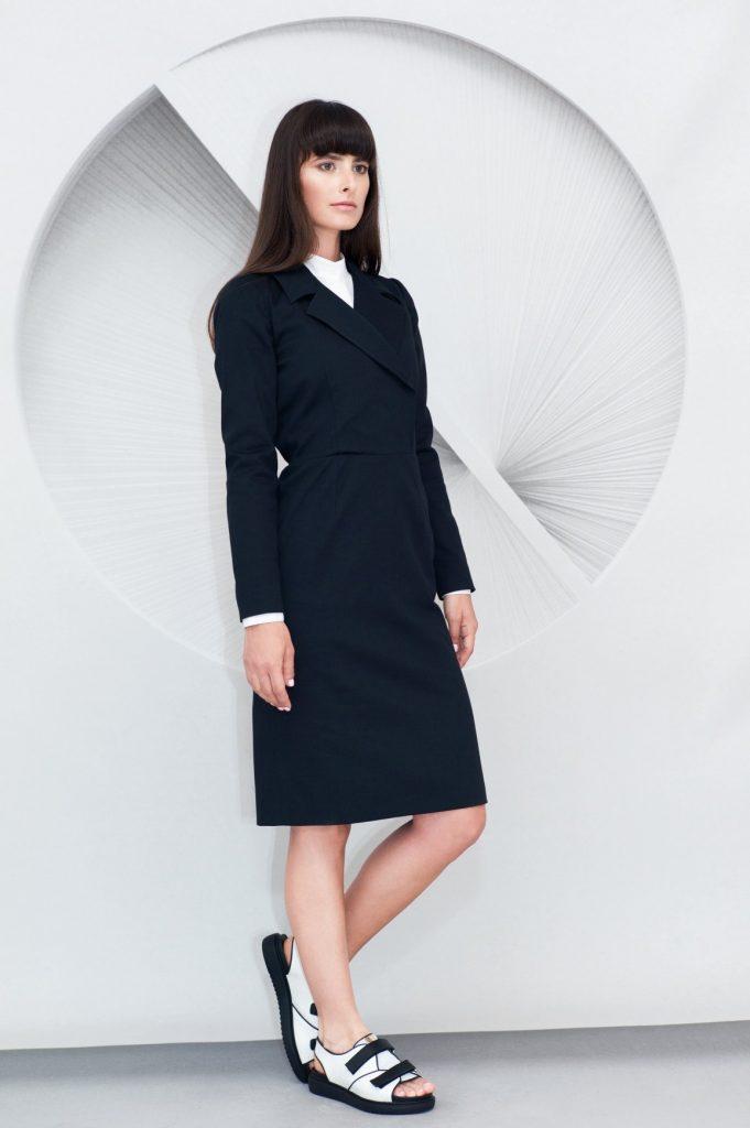 Lapels Midi Dress