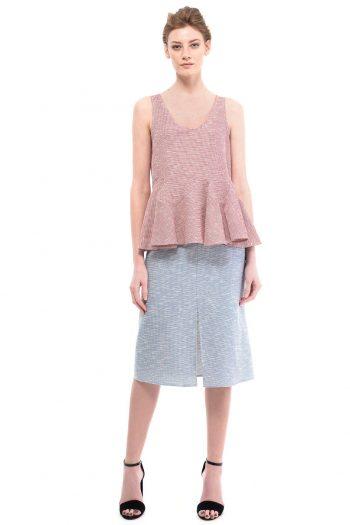 Cotton Midi Skirt