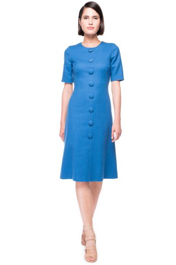 Wool Dress with Buttons