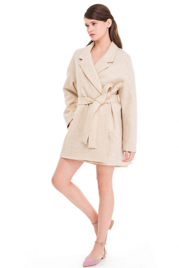 Short Oversized Wool Coat