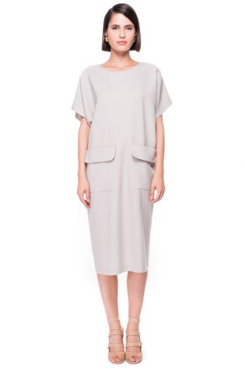 Oversized Wool Dress with Pockets