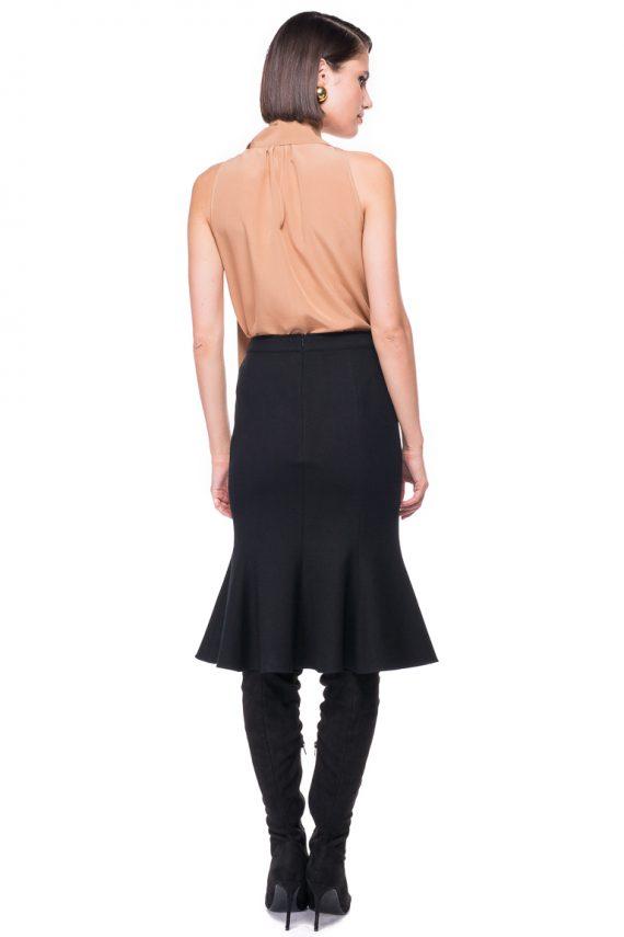 Godet Wool Skirt
