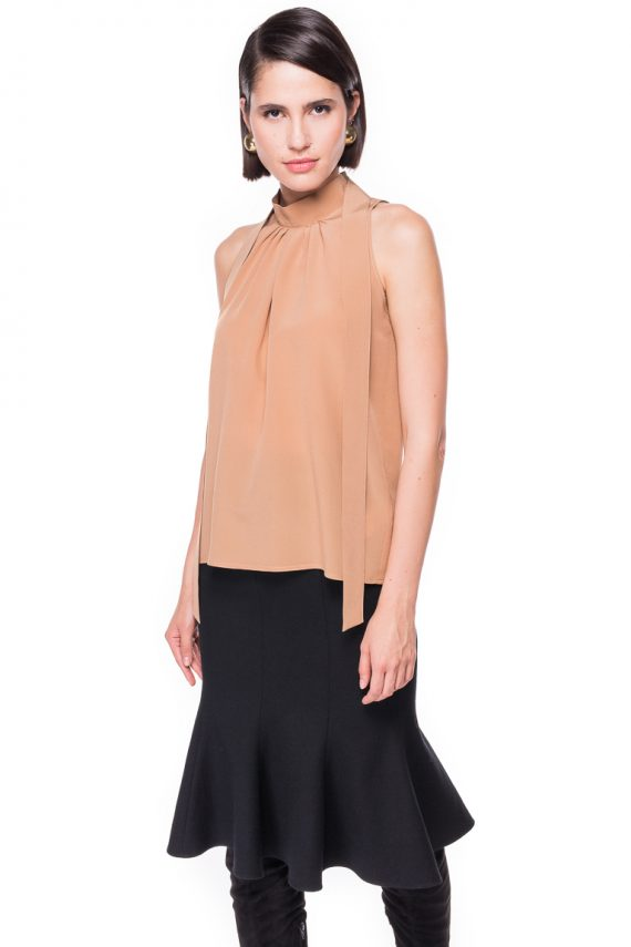 Terracotta Silk Top