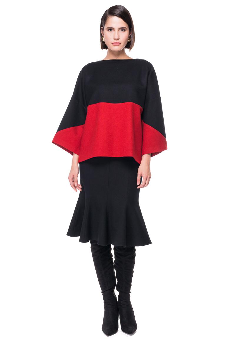 Bluza Supradimensionata in Doua Culori