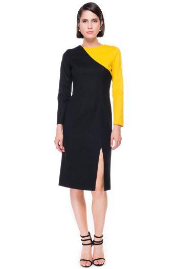 Two Tone Straight Dress