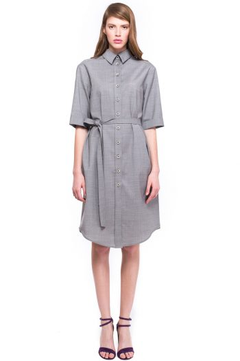 Oversized Wool Shirt Dress
