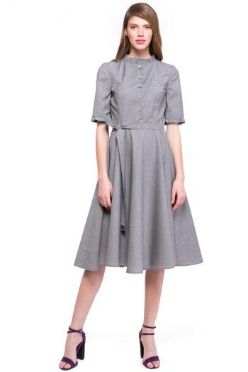 Wool Flared Dress