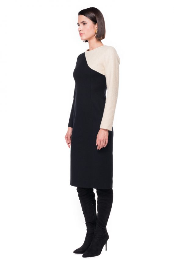 Two Tone Wool Dress