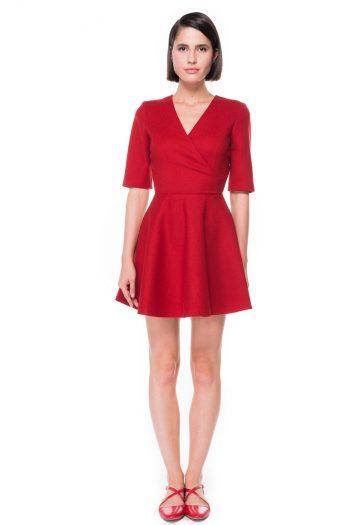 Wrap Effect Mini Dress