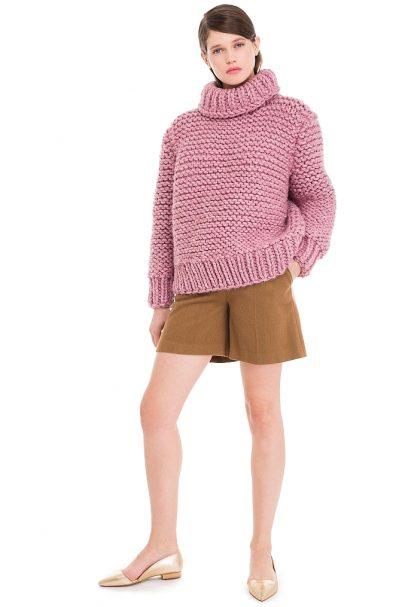 Chunky Knit Wool Blend Sweater