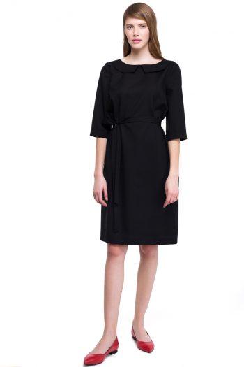 Wool Collar Dress