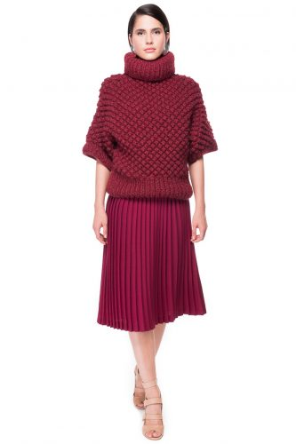 Blackberry Stitch Hand Knitted Sweater
