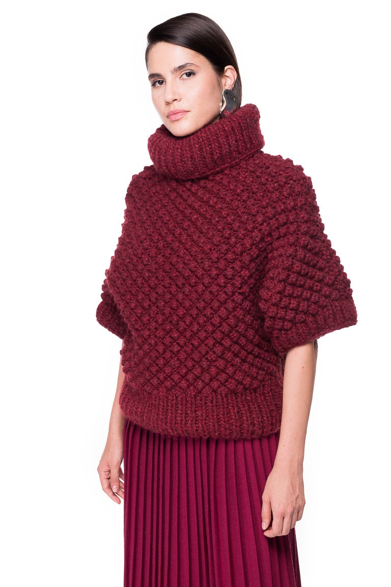 Blackberry Stitch Hand Knitted Sweater Chemistry Studio