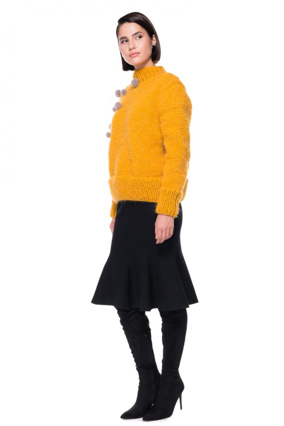 Pompom Hand Knitted Sweater