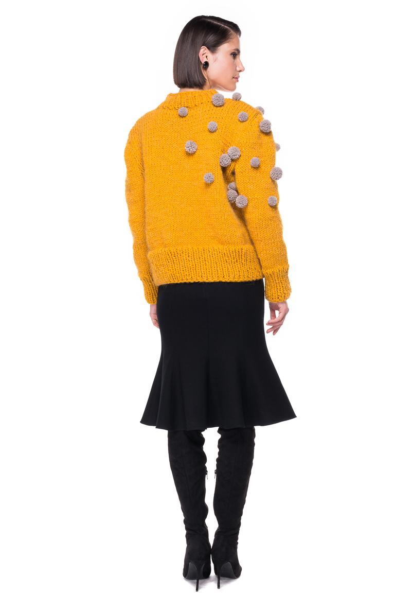 Pompom Hand Knitted Sweater Chemistry Studio
