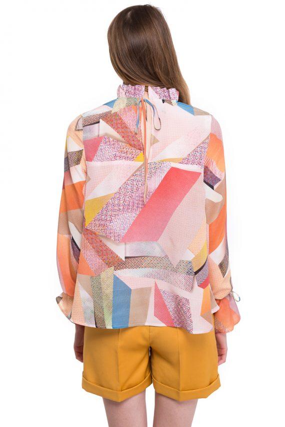 Bluza din Matase cu Imprimeu