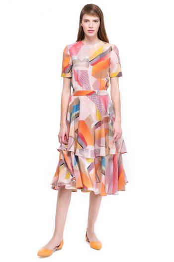 Silk Flared Dress