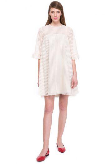 Babydoll Cotton Blend Lace Dress