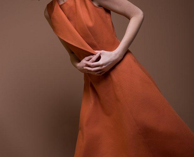 Cotton Lapel Dress