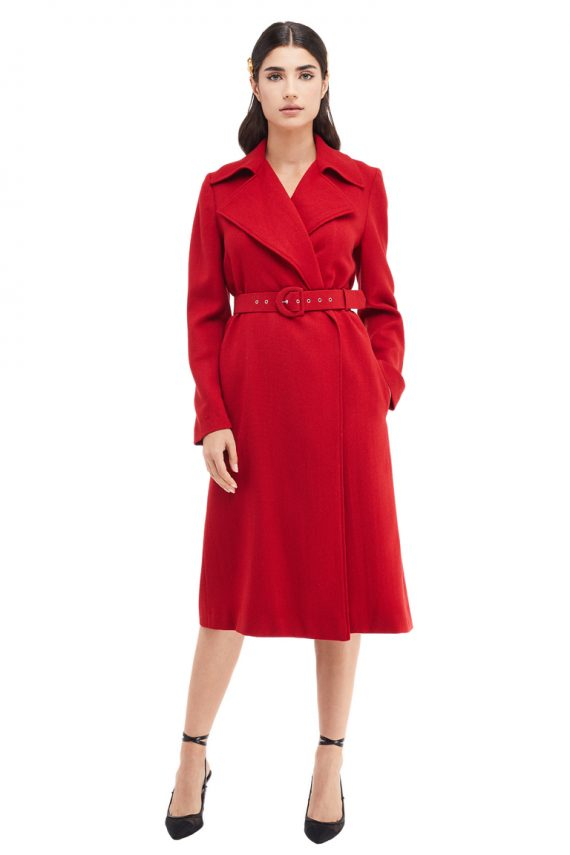 Alia Belted Oversized Wool Coat