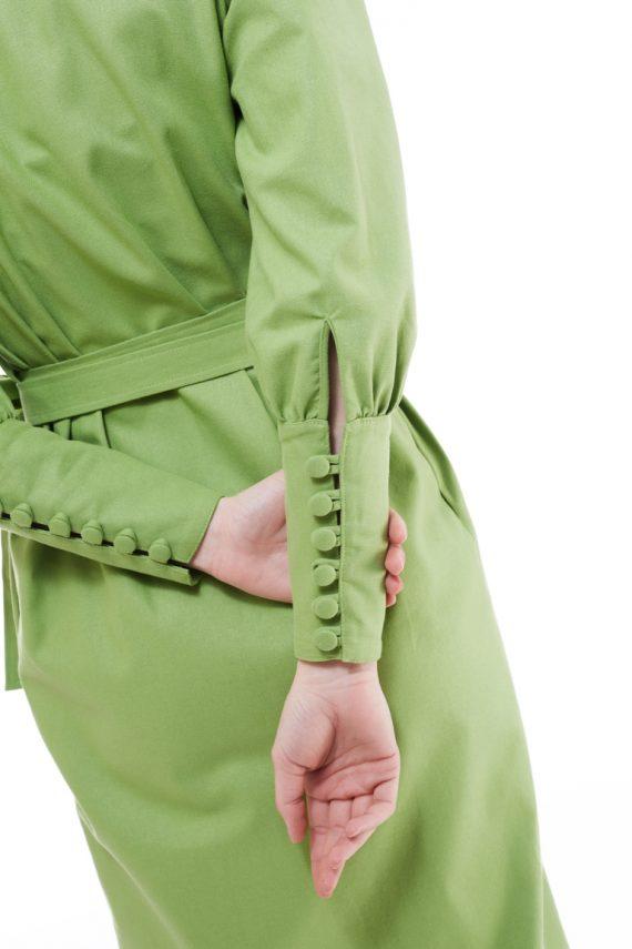 Ava Puff Sleeve Wrap Dress