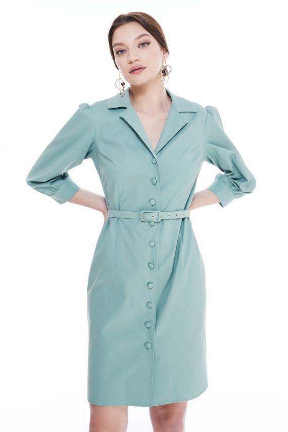 Barbara Cotton Mini Shirt Dress