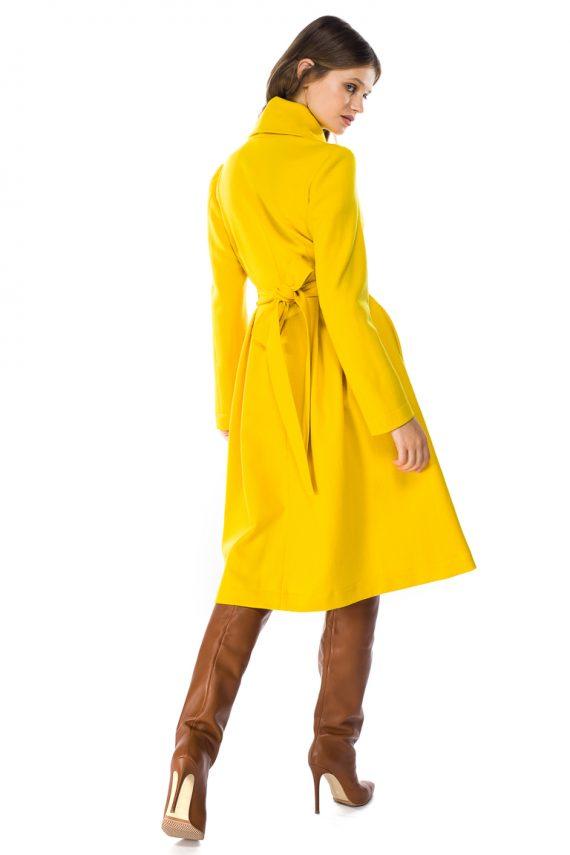 Belted Wool Coat - back