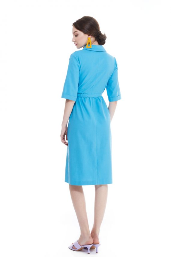 Bette Gathered Cotton Midi Dress