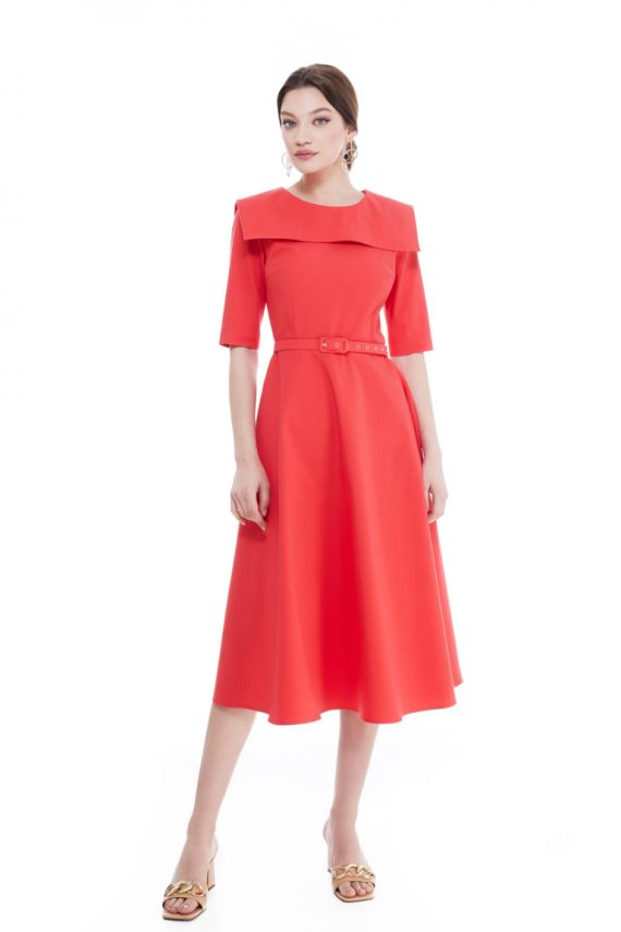 Brigida Sailor Collar Midi Dress