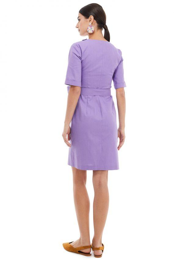 Button Embellished Mini Dress