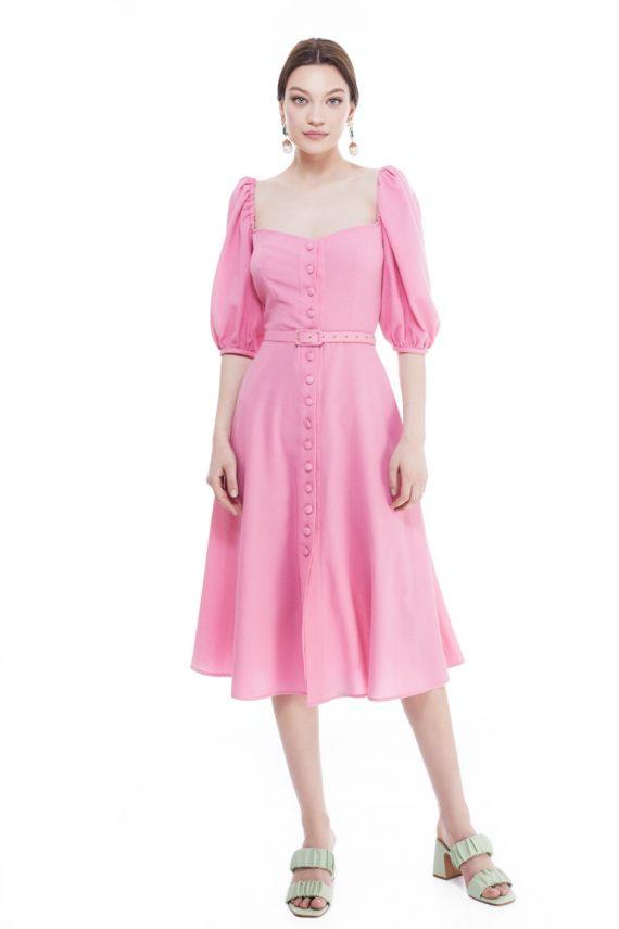 Caro Cotton Crepe Shirt Dress