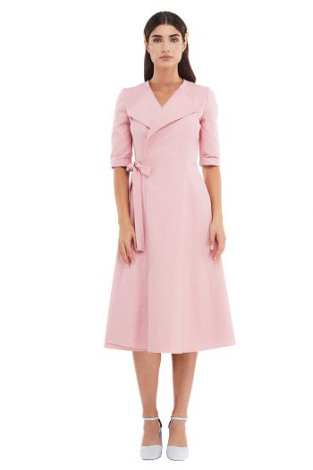 Celeste Cotton Wrap Midi Dress
