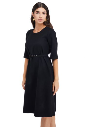 Christine Wool Midi Dress