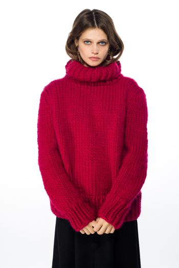 Chunky Turtleneck Wool Sweater