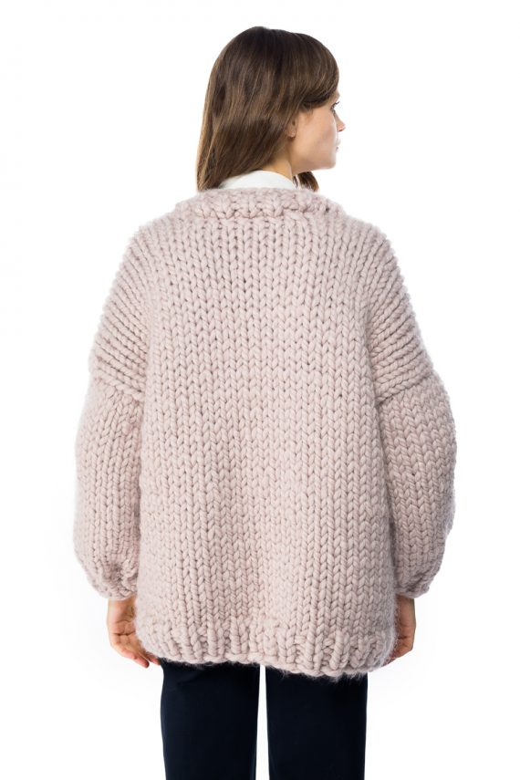 Chunky Wool Cardigan - back