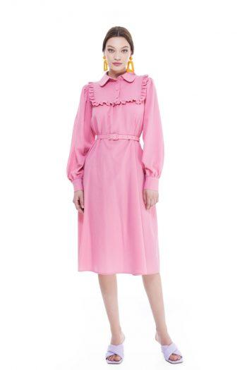 Claudia Cotton Crepe Midi Dress