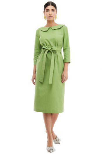 Collar Cotton Midi Dress
