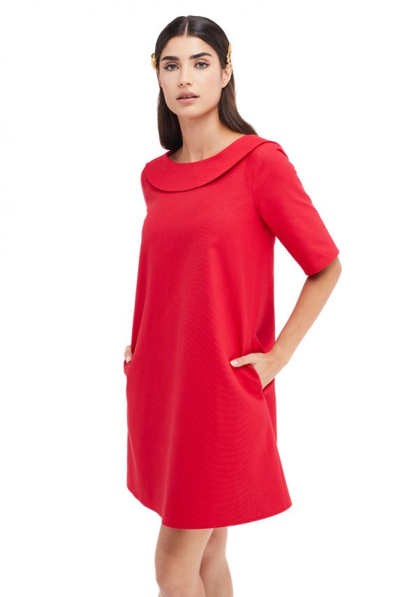 Cosette Open Back Cotton Mini Dress