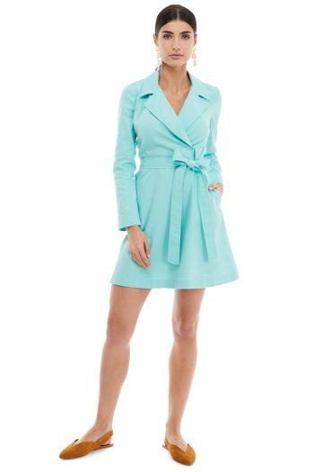 Cotton Lapel Mini Dress