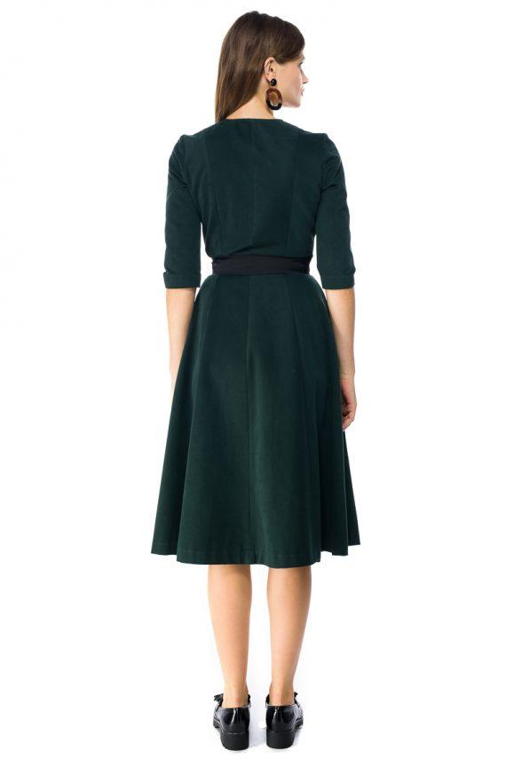 Cotton Wrap Midi Dress - back