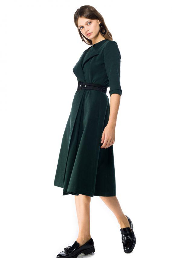Cotton Wrap Midi Dress - side