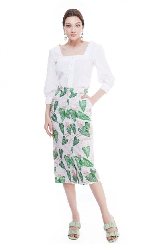 Cyd Cotton Midi Skirt