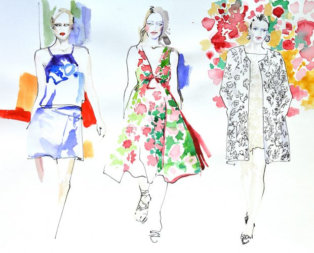 Fashion teaching illustration
