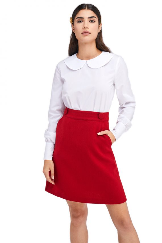 Edith Wool Mini Skirt