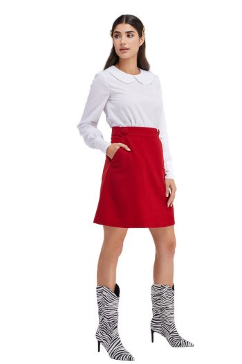 Edith Wool Mini Skirt