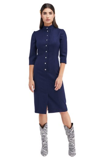 Emma Wool Shirt Dress