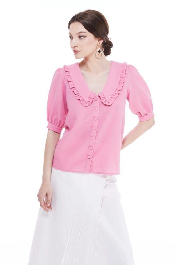 Eva Frill Collar Cotton Shirt