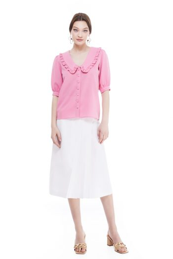 Eva Frill Collar Cotton Shirt