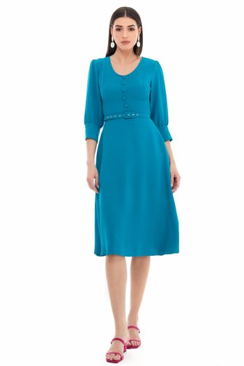 Flared Viscose Dress